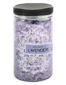 Archipelago Botanicals - Lavender Bath Salts by Archipelago Botanicals. $28.00. Paraben free. Reduces stress and strain. 100% natural sea salts. Sulfate free. Acts as an exfoliant. Bath salts are known to relax the muscles and calm down a stressed body. These Archipelago Botanicals' Lavender Bath Salts are proven to provide relief, hydrate your skin, reduce any redness associated with rough, dry skin and guaranteed to have you feening for more once it's finished.Stress and s...