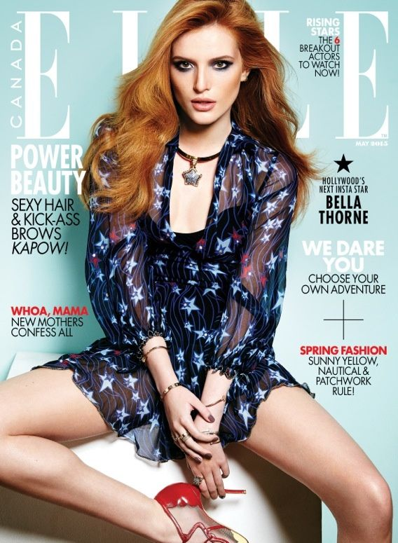 Bella Thorne covers the May 2015 issue of ELLE Canada photographed by Max Abadian