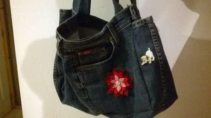 sac avec vieux jean