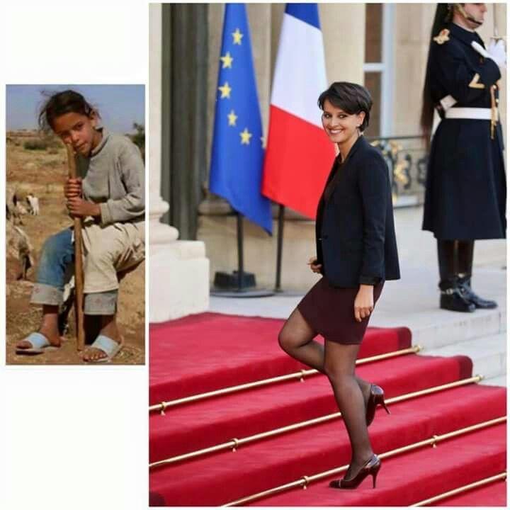 Najat Belkacem, de pastora en Marruecos a Ministra de Educación en Francia. Ha legislado por la penalización de los clientes de prostitución y ha promovido grandes leyes sociales  #Mujer #Musulmana #Inmigrante