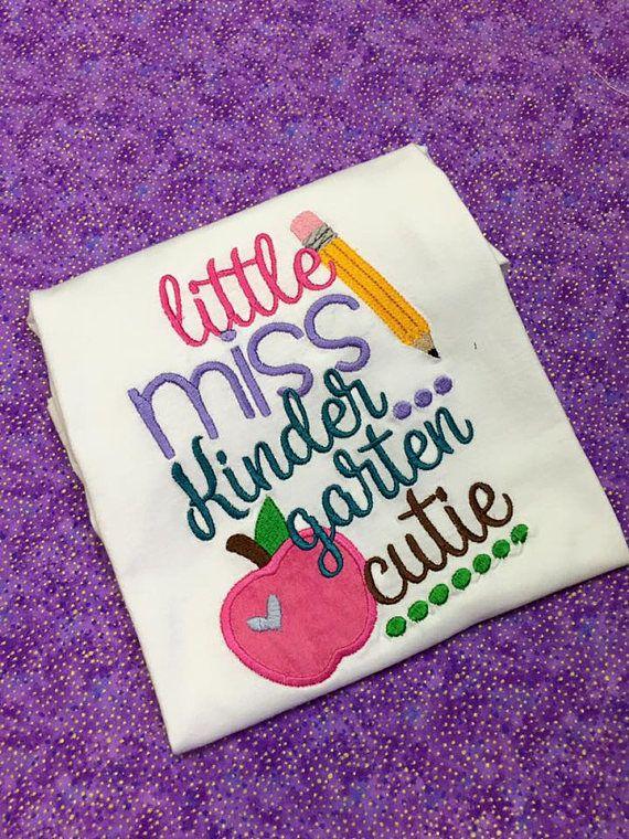 Kindergarten Cutie Little Miss Kindergarten Cutie Shirt 1st