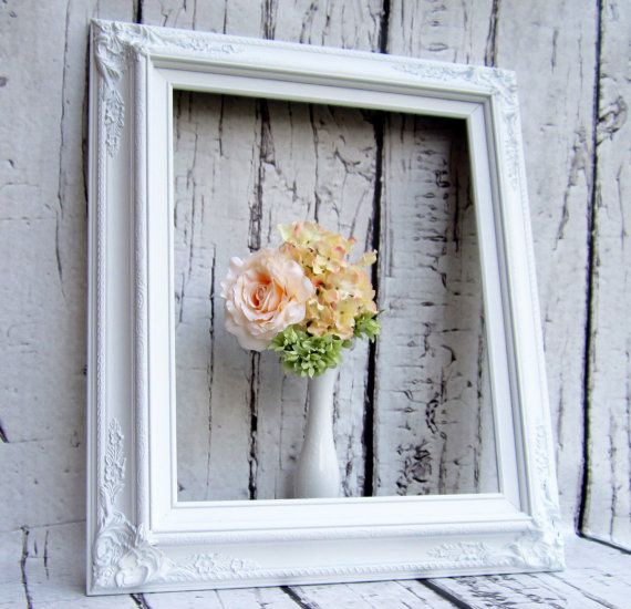 """BAROQUE PICTURE FRAMES For Sale Fits 16""""x20"""" White Wedding Picture Frame Picture Frame Fits Baroque Decorative Frame Shabby Chic"""