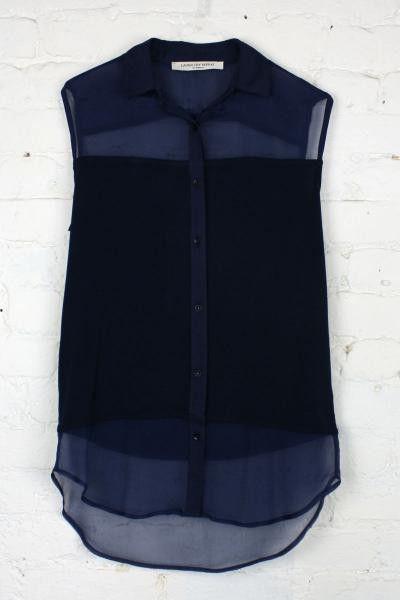 /: Sleeveless Top, Style, Blue, Navy Blouse, Closet, Sheer Navy, Shirt, Navy Tops