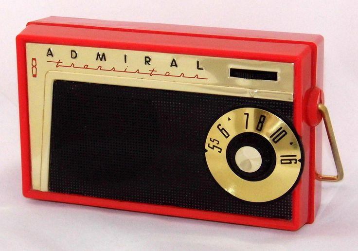 https://flic.kr/p/SV5MVA | Vintage Admiral Transistor Radio, Model 802, Broadcast Band Only (MW), 8 Transistors, Made In USA, Circa 1959