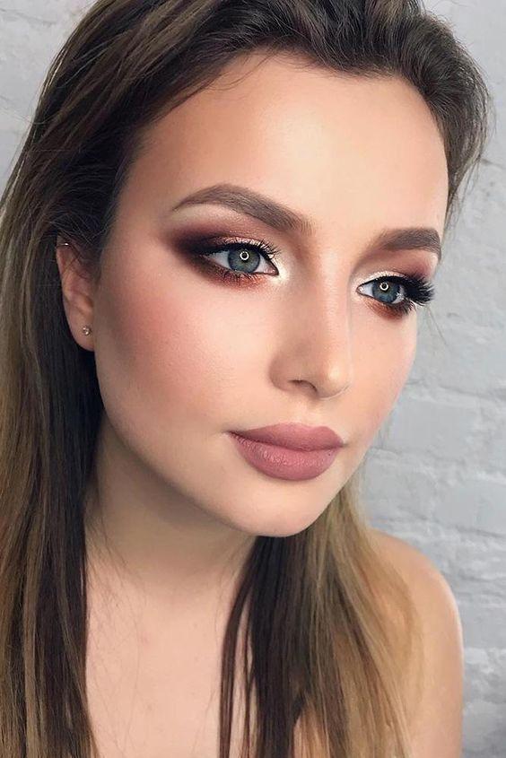 Maquillaje de noche sencillo 2019, maquillaje para fiesta de noche paso a paso, …