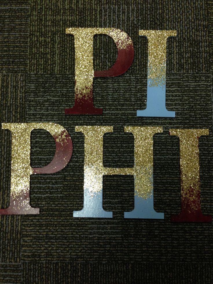 Pi Phi glitter letters #GlitterLetters