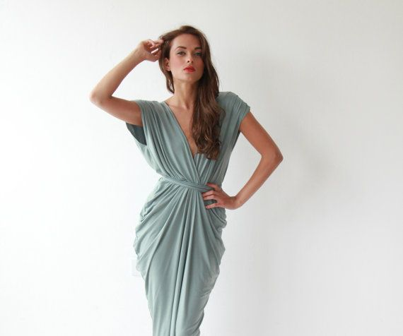 Mint  Maxi Dress  Bridesmaid Dress by BLUSHFASHION on Etsy, $159.00