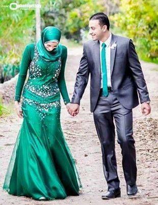 Muslim Couple - Matching Greens