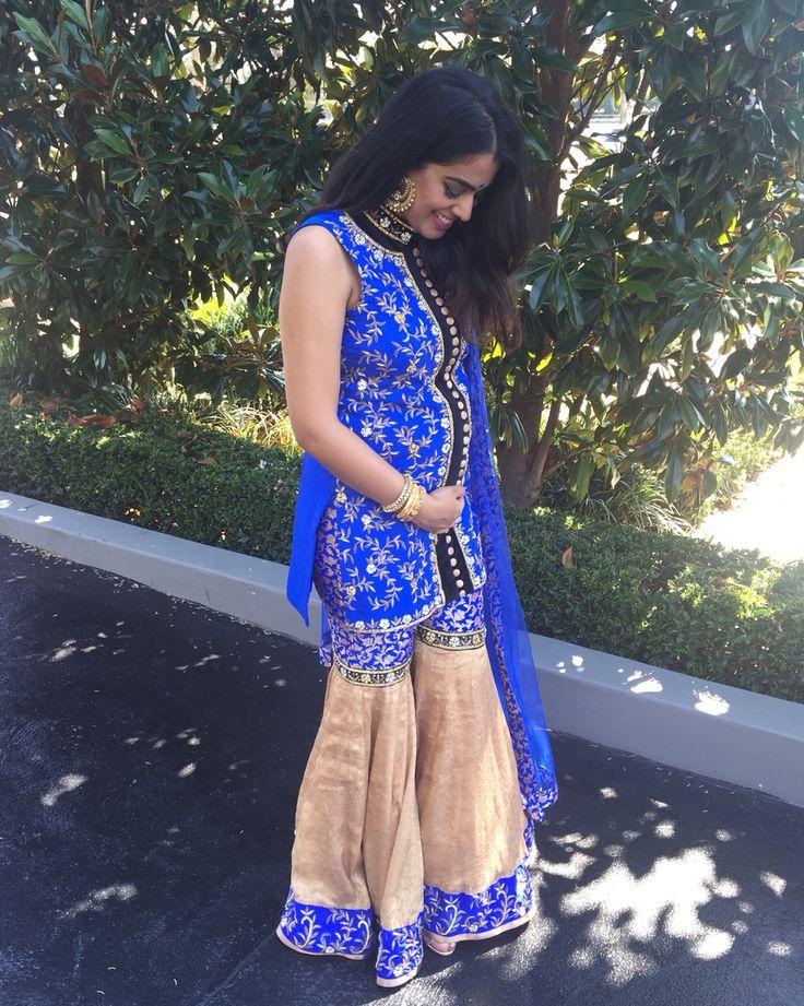 Sharara Indian Wear Desi Wear Pregnancy Style Indian Fashion Fashion Blogger Blue Suit
