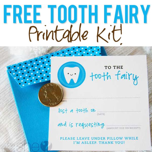 Free Tooth Fairy Printables! Great idea for record keeping too!