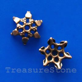 #Bead Cap, copper-finished, 7x4mm Nickel Free. #TreasureStone #Beads Edmonton.