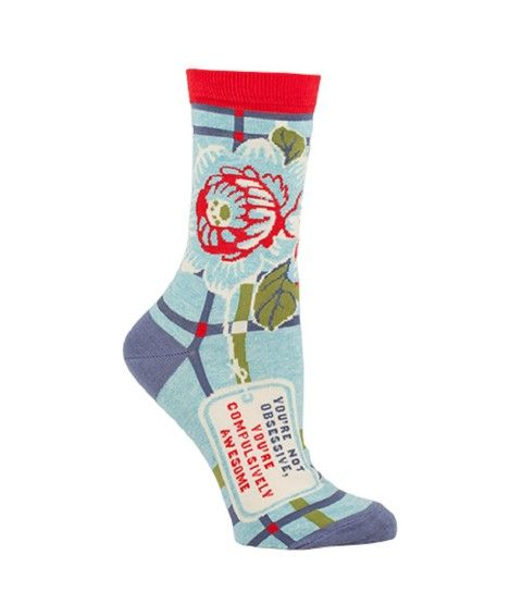 "Damensocken - ""Compulsively Awesome"" von Blue-Q Baumwolle Gr. 36-41 Socken  - 2-flowerpower"