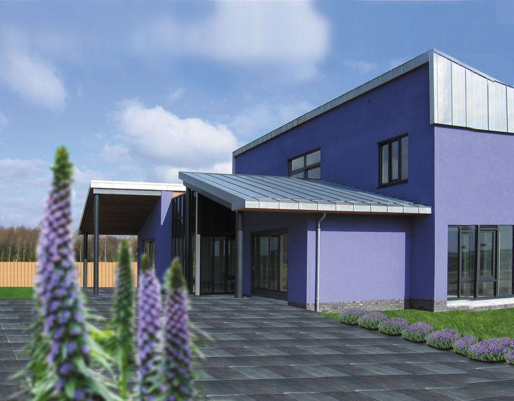 het lessenaarsdak is van zink met afbeeldingen huisstijl architectuur nieuwbouw on zink outdoor kitchen id=65859