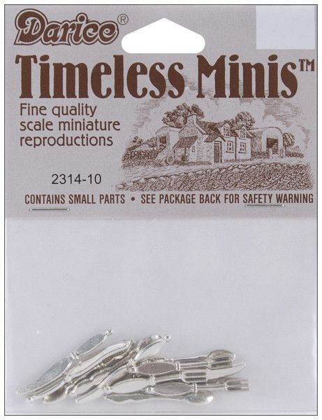 timeless miniatures-silverware 12/pkg