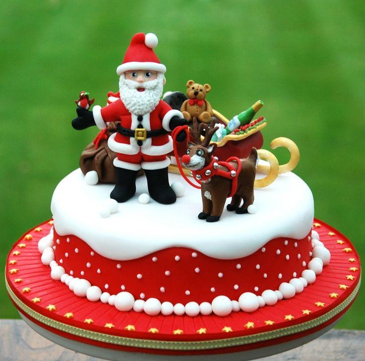 Christmas Fruit Cake Decoration Ideas : 30 best christmas cake images on Pinterest Christmas ...