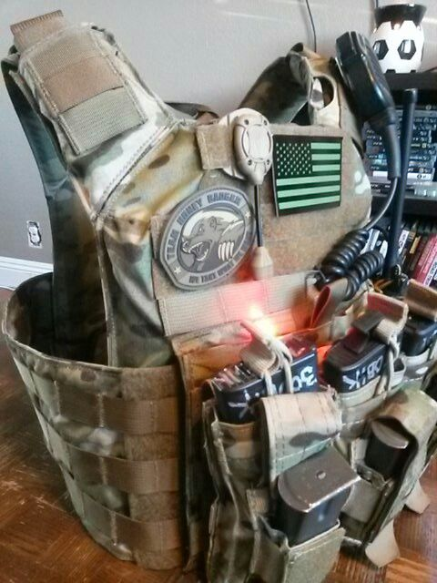 Shellback tactical plate carrier in multicam. Team AMERICA.