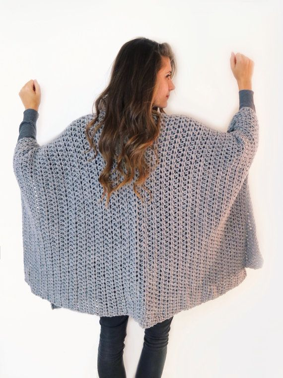 Blanket Ruana Pattern by TwoOfWandsShop // crochet pattern for poncho wrap cape cardigan ruana // two of wands