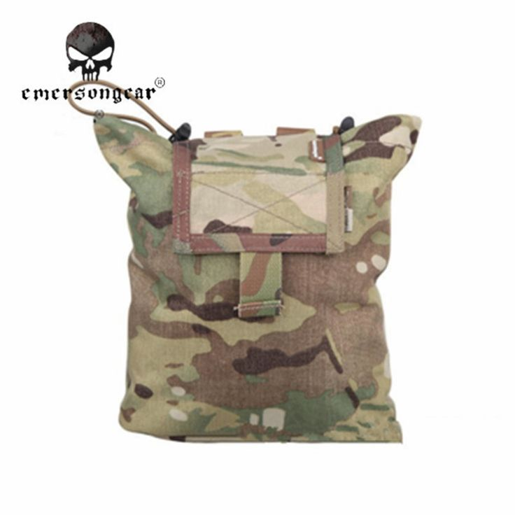 EMERSON 2pcs/pack Military Tactical Folding Magazine Pouch Camo Hunting Vest Belt Ammo Tool Bags Airsoft Paintball EM9041