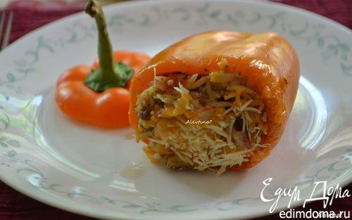 Фаршированные сладкие перцы с итальянской  пастой орзо  | Кулинарные рецепты от «Едим дома!»