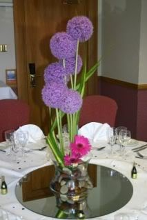 Fotos de centros de mesa morados 2011 | Bodas