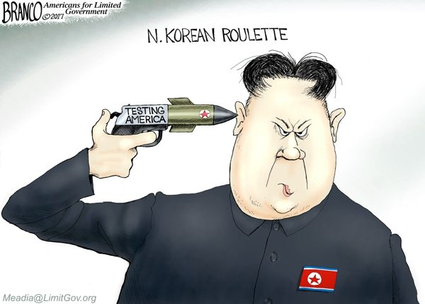 Image result for cartoons branco trump north korea