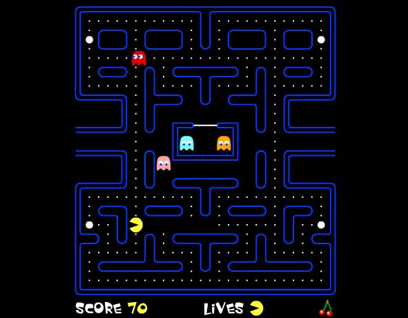 Play the game Pacman, the online game Pacman, are free to play. Play online now the Pacman free game and have fun!