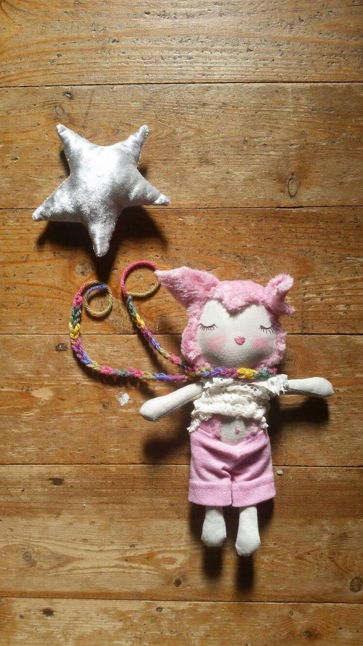 Kitten doll. Handmade doll. Cloth doll. Small doll. Pretend play. Tiny doll. Fabric doll. OOAK doll. Plush. Baby kitten. by RipleyCatCo on Etsy