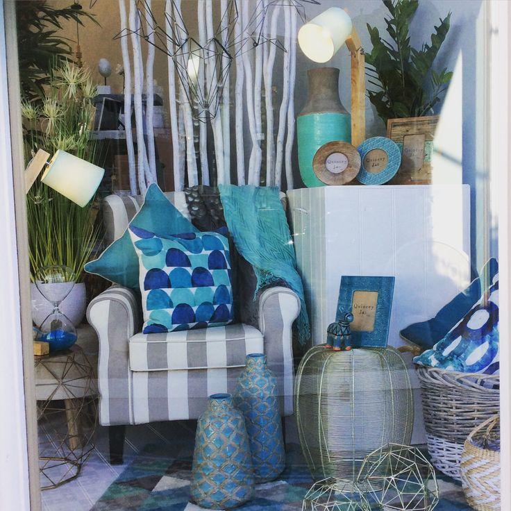 New window #mint #grey #cushions #throws #teal #lighting #woolrug