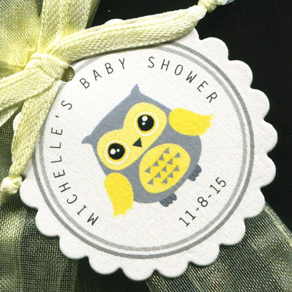 50 Personalized Baby Shower Favor Tags  Baby Shower by susiedees