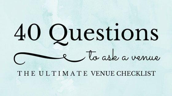 25+ Best Ideas About Wedding Venue Questions On Pinterest