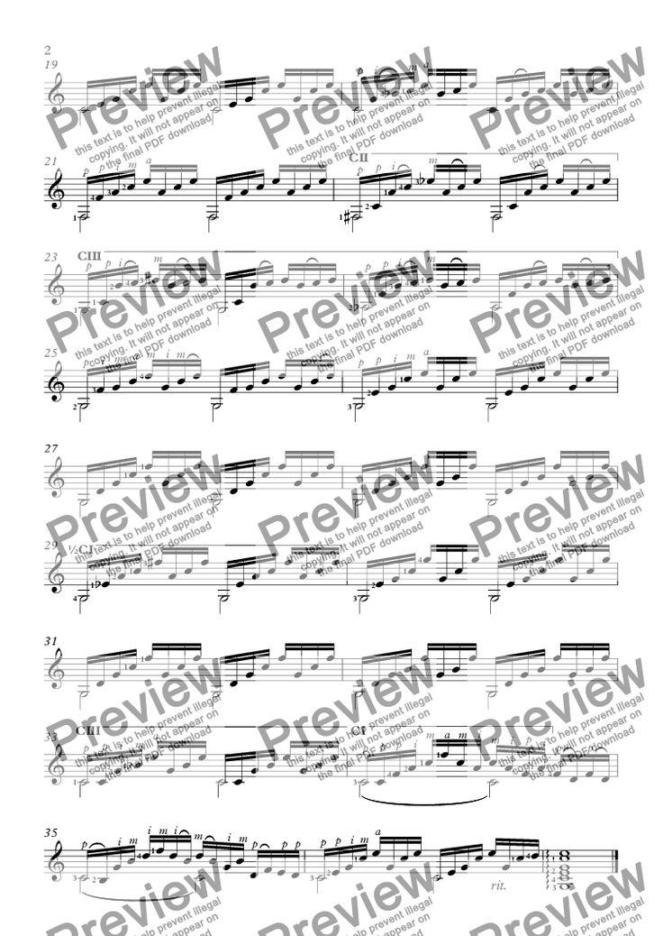 Prelude No1 in C Major, BWV 846 (Guitar Solo) Scores - wrestling score sheet