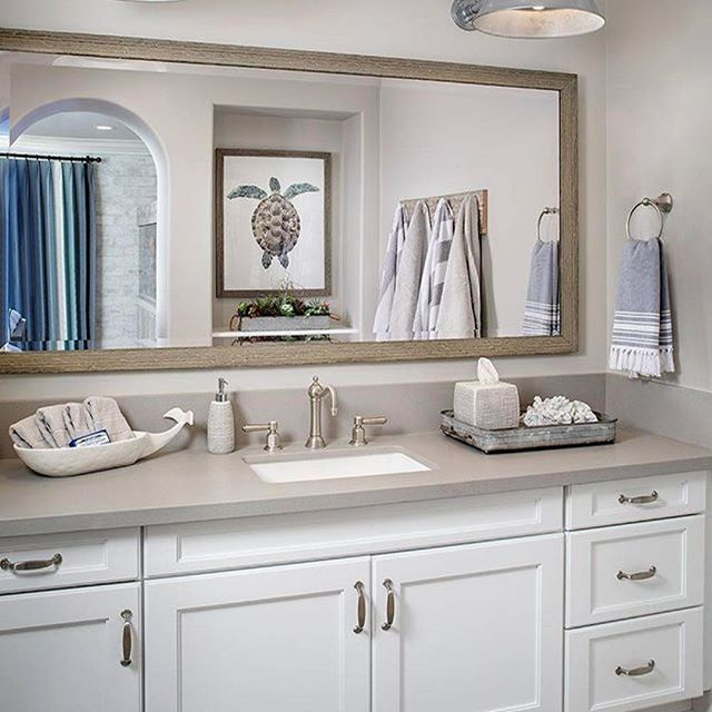 Coastal Bathroom Ideas: Island Vibes Brought To You By Tracy Lynn Studio. Coastal