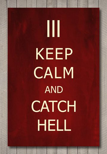 The White Stripes  keep calm and catch hell by SeventhSonStudios, $19.00