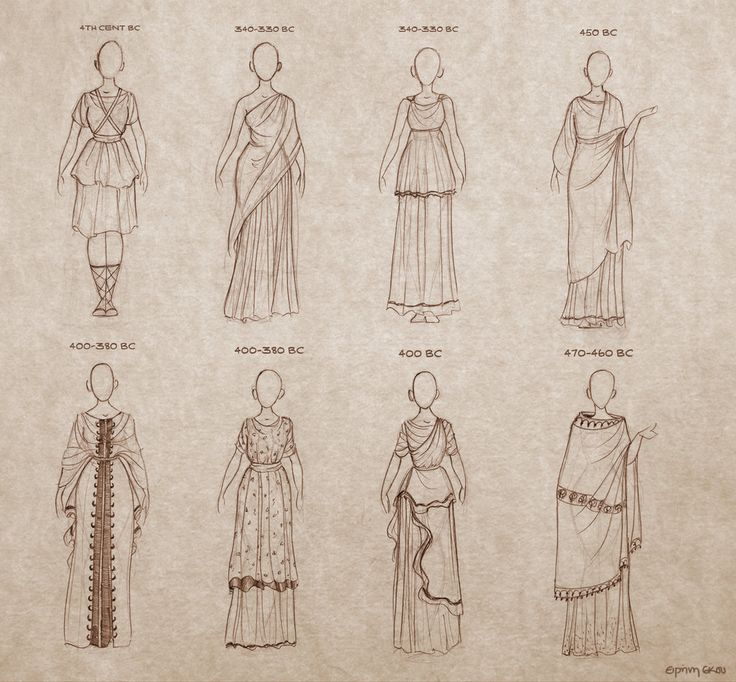 Ancient Greek Dresses by Ninidu.deviantart.com
