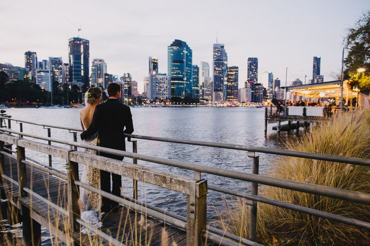 Riverlife's pontoons are amazing for your wedding photos over the river.