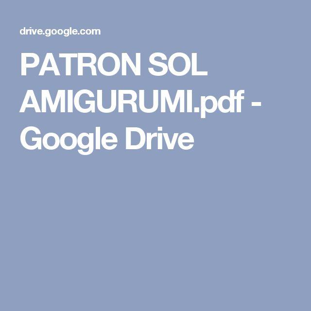 PATRON SOL AMIGURUMI.pdf - Google Drive