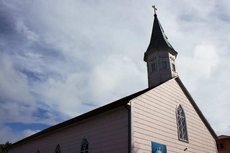 Pink church . Frutillar ,Chile #chileanaspossible