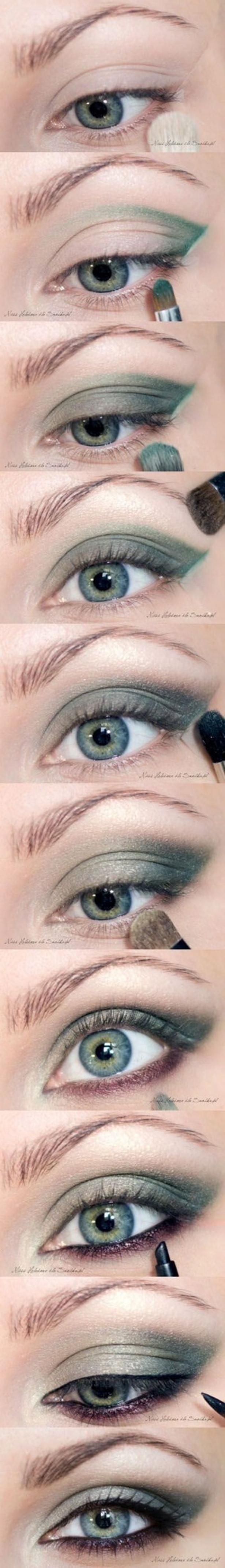 55 best eye makeup tutorial diy images on pinterest beauty emerald smoky eye shadow makeup tutorial awesome for green eyes baditri Images