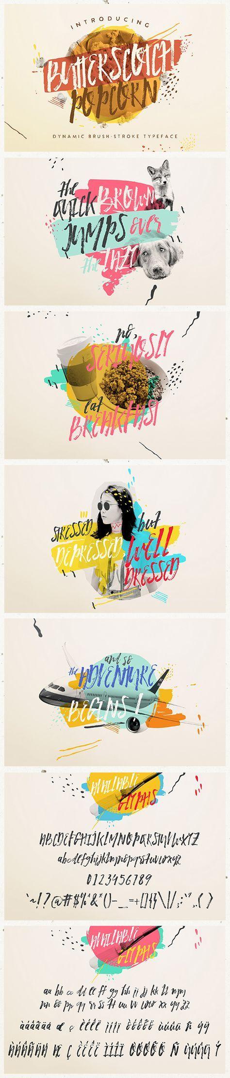 Butterscotch Popcorn - Script Fonts