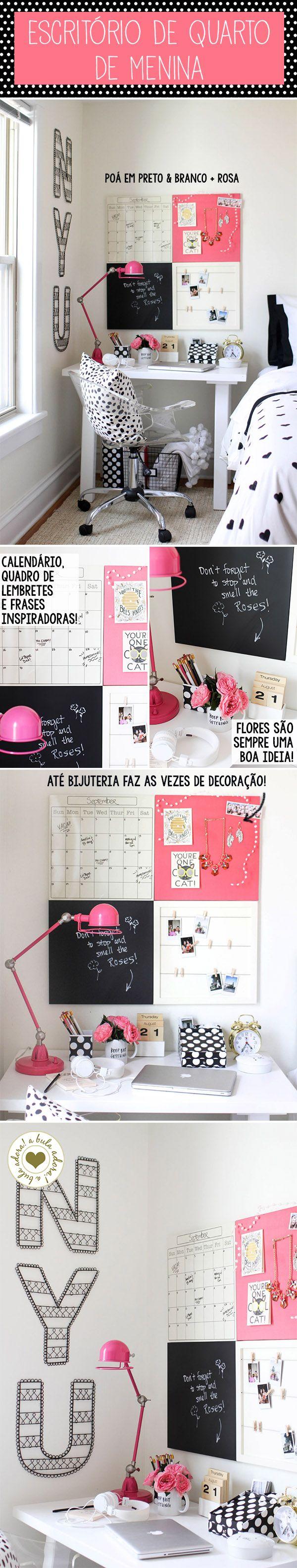 Pink + Poá preto e branco (From http://buladaarquitetura.tnh1.com.br/)