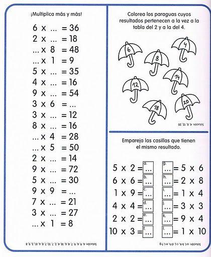 ejercicios de matemáticas multiplicación - Buscar con Google