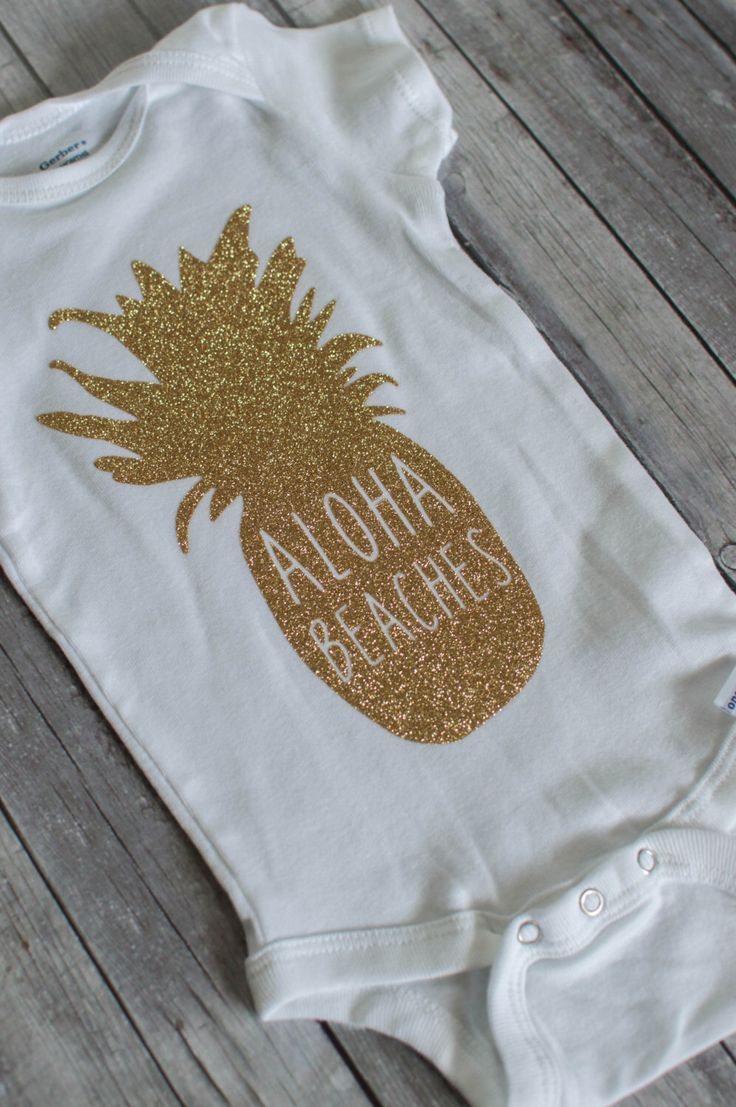 Gold Glitter Hipsterlittles EXCLUSIVE pineapple aloha beaches bodysuit and baby TEES by hipsterlittles on Etsy https://www.etsy.com/listing/235606117/gold-glitter-hipsterlittles-exclusive