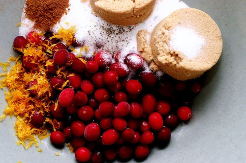 Apple-Cranberry Crisp with Polenta Streusel Topping