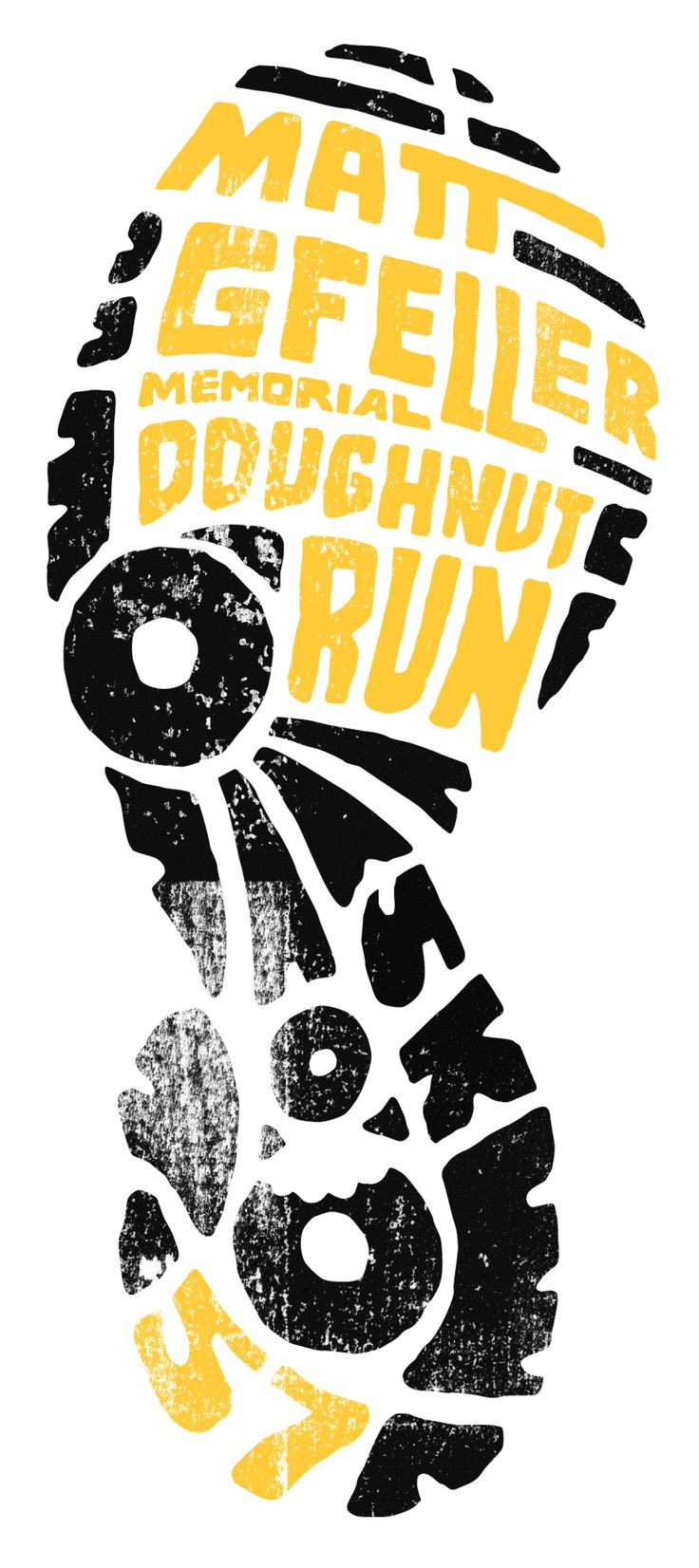 T shirt poster design - Fun Run Logo Design By Brady Tyler The Shape Of The Footprint Here Is Easily Recognizable And Has The Treads Of The Shoe As Letters