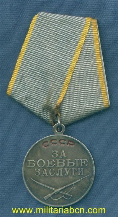 URSS. UNION SOVIETICA. MEDALLA AL MÉRITO MILITAR. EPOCA AFGANISTÁN. SIN NUMERAR.