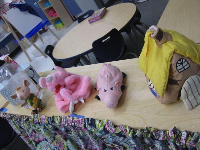 Pre-K Tweets: Fairy tale unit puppets in blocks center