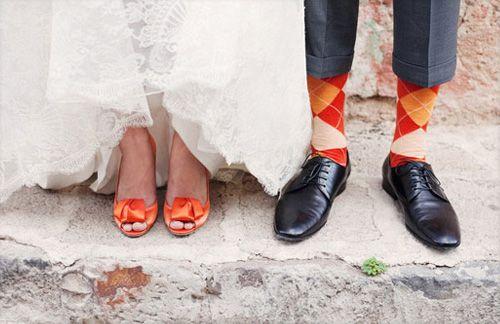 Confesiones de una boda: Novios con calcetines de colores