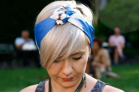 head scarves and short hair