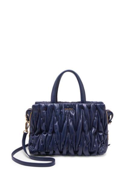 cd1cd9989620 Miu Miu - Leather Top Handle Bag