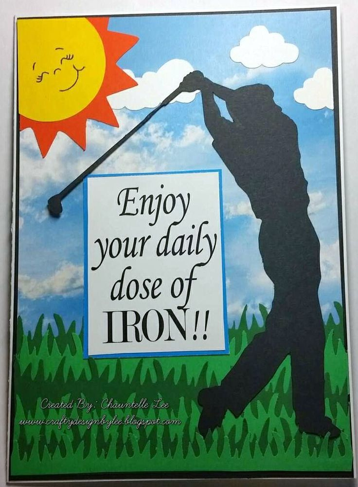 Golf Lover - Retirement Card - Congratulations Standard A2 size card with envelope.